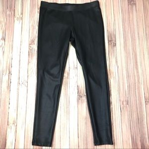 Express Large Black Vegan Leather Leggings